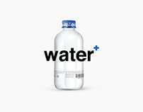 Water + packaging .