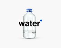 Water + packaging .