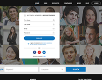 Linkedin Kind Social Network for Jobs Design & Develop
