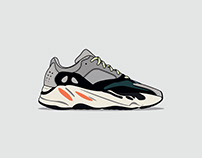 Sneaker Illustration Series: Yeezy 700 Wave Runner