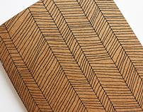 Herringbone pattern & notebook