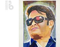 Mohanl's Portrait | Acrylic Painting