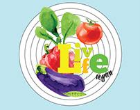 Poster vegan food