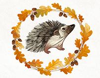 Hedgehogs in Wreaths