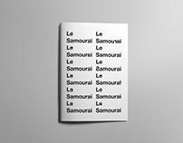 Le Samouraï Film Booklet