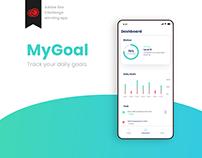 Adobe xd challenge My Goal App