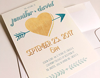 Happily Ever After wedding invitation suite and print
