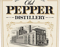 Old Pepper Distillery Illustrated by Steven Noble