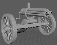 old time Gatling gun
