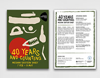 """Branding for """"40 Years & Counting MGD"""" Exhibition MCDC"""