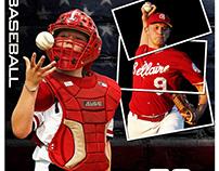Baseball sports memorymates photography template
