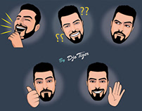 2D Twitch Emotes illustration Collection - by Djo Tiger