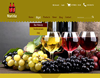 WineCeller Home Page Design