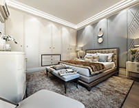 Bedroom 3d render for Fort Worth project