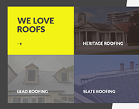 Design Concept for Roofing Solution Website