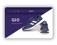 Redesign of Goldstar shoe website.