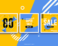 Free Sale Promotion Banner for Social Media Post