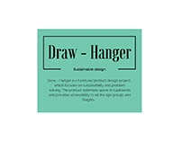 Draw - Hanger Sustainable product/furniture design
