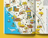 Pictorial map series 1 — Jetstar in-flight magazine