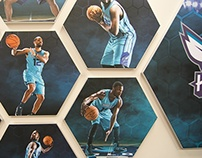 Charlotte Hornets Player Graphics - Locker room