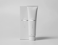 Lucir packaging lotion and cream
