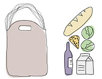 Illustration  |  The Market Tote by Urban Southern