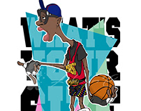 Basketball Illustration - Mars Blackmon. design