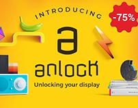 anlock - Display font