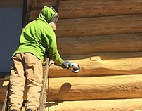 Colorado Springs Log Home Maintenance Project