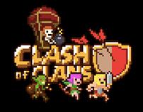Clash of Clans pixel art