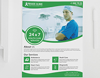 Private Clinic Flyer Template