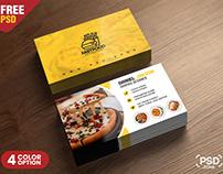 PSD Fast Food Restaurant Business Card Design