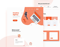 New agency landing page