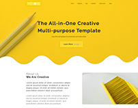 Yellow Creative Agency Template
