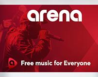 Arena App UI/UX - Web