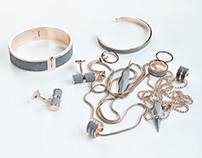 Fusion Concrete Jewellery Collection for Gravelli