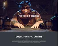Portfolio Grid - Dark WordPress Theme