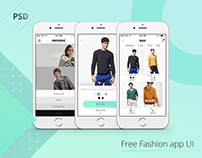 Free Fashion App UI [PSD]