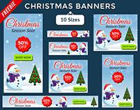Christmas Sale Banners - Freebie PSD Banner Template