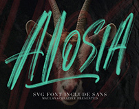 Alosia SVG Brush Font Free Sans