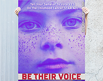 Oversized Vote Posters for Nonprofit The Purple Society