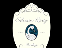 Swan King Wine label
