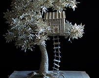 Treehouse Book Sculpture