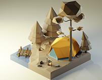 Camp Vibe Low Poly