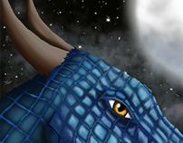 Dragon at night
