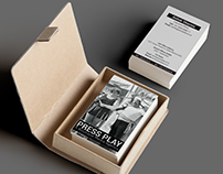 Pressplay Logo Business card Branding Graphic art