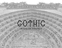 Gothic - modular typeface