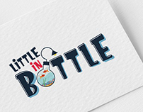 Little in Bottle logo (handmade crafts)