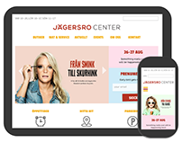 Shopping mall website interactive redesign