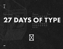 27 DAYS OF TYPE